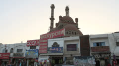 New Mosque Construction in Old Market, Sharm El Sheikh, Egypt Stock Footage