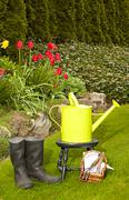 the gardener's day - stock photo