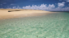 168  White sand beach, Siargao Island, Naked Island, Philippines. Stock Footage