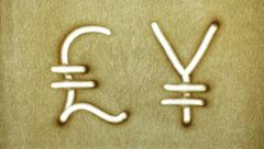 Currency Symbols Stock Footage