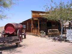 Calico city (ghosttown) in USA Stock Photos
