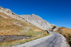 High altitude road - stock photo