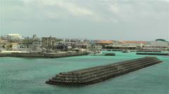Okinawa Islands Japan 23 breakwater Stock Footage