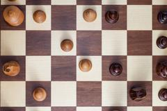 chessboard above - stock photo