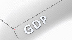 Growing chart graphic animation, rising GDP(Gross Domestic Product) Stock Footage