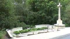 The CWGC Guards Grave Cemetery, Villers Cotterets Forest, Aisne, France. Stock Footage