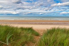 omaha beach, one of the d-day beaches of normandy, france - stock photo