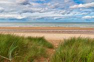 Stock Photo of omaha beach, one of the d-day beaches of normandy, france