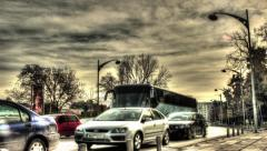 hdr timelpase city traffic - stock footage