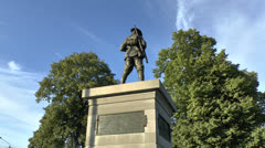 The Australian 2nd Division Memorial, Mont St Quentin, France. Stock Footage