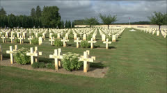 The Villers-Cotterets French National Cemetery, Villers-Cotterets, France. Stock Footage