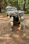 Dolmen. megalithic tomb in brittany, france Stock Photos