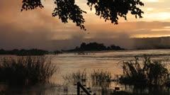 Sunset/Dusk at Zambezi River Stock Footage
