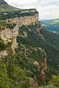 calcareous cliffs in tavertet, catalonia, spain - stock photo
