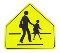 Road sign caution sign - school crossing Stock Photos