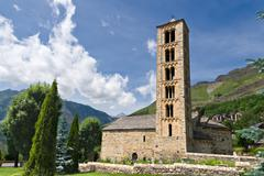 romanesque curch of sant climent de taull, catalonia, spain - stock photo