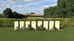 The CWGC Pargny British Cemetery, Somme, France. Stock Footage