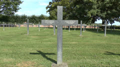 The Muille-Villette German Military Cemetery, Somme, France. Stock Footage