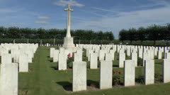 The CWGC Ham British Cemetery, Muille-Villette, Somme, France. Stock Footage