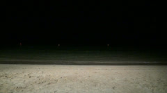 Night at the beach Stock Footage
