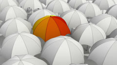 Umbrellas Stock Footage