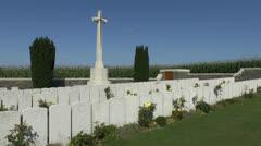 Sheffield Memorial Park, Somme Battlefields, France Stock Footage