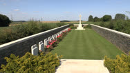 Stock Video Footage of Luke Copse British Cemetery, Somme Battlefields, France