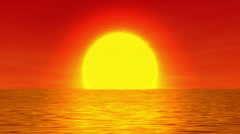 Sun over the water Stock Footage