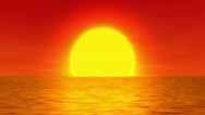 Stock Video Footage of Sun over the water