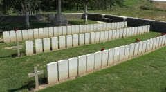 Railway Hollow CWGC cemetery, Sheffield Memorial Park, Somme, France Stock Footage