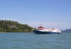 hydrofoil passenger ship - stock photo