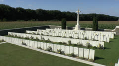 Sheffield Memorial Park, Somme Battlefields, France Stock Footage