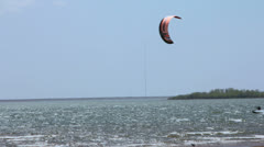 Kite Surfer at Ray Roberts State Park in Texas III Stock Footage