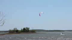 Kite Surfers at Ray Roberts State Park in Texas IV Stock Footage