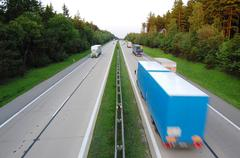 traffic on d1 motorway in the czech republic - stock photo