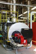 Gas steam boiler Stock Photos