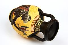 greek amphora - stock photo