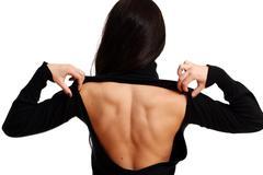 Stock Photo of closeup female back