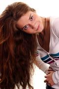 Glamor portrait of a beautiful woman Stock Photos