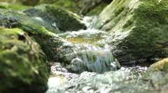 Peaceful rushing water four Stock Footage