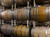 Stock Photo of wine barrels