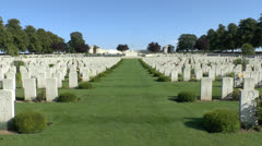 The CWGC Serre Road Cemetery No.2 , France. Stock Footage