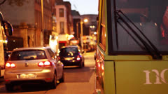 City Street Early Evening Stock Footage
