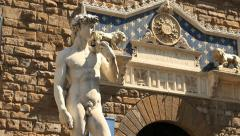 David of Michelangelo, Florence Stock Footage