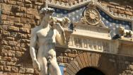 Stock Video Footage of David of Michelangelo, Florence