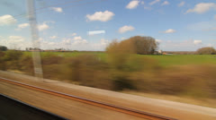 Eurostar in French countryside. Two shots. Stock Footage