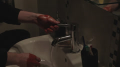 Washing Bloody Hands - stock footage