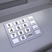 ATM machine keyboard - stock illustration
