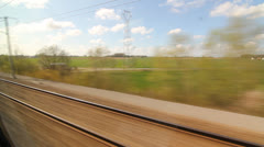 Eurostar. Sunny French countryside. Stock Footage