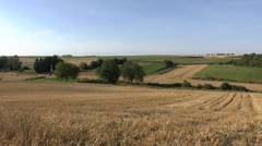 Hawthorn Ridge mine crater valley, Beaumont Hamel, Somme, France. Stock Footage